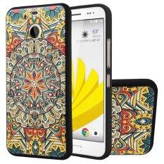 Soft TPU Case untuk HTC 10 EVO/HTC Bolt Totem Bunga 3D Lukisan Timbul Series Protective Cover-Intl