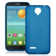 Soft TPU Silicone Back Case Cover Kulit untuk Alcatel One Touch Idol 2 Mini L 6014x Dark Blue (LUAR NEGERI) -Intl