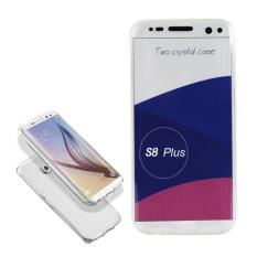 Softcase 360 Full Body Silicone Depan Belakang Samsung S8 Plus clear