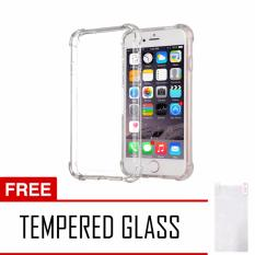 Softcase Anti Crack Anti Shock For iPhone 8 Aircase - Putih Transparant + Tempered Glass