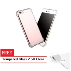 Softcase Anti Cr*Ck For Samsung Galaxy C9 Pro Anti Shockproof Jelly Case Transparant Free Tempered Glass Bening Terbaru
