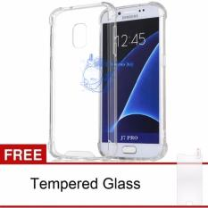 Softcase Anti Crack Samsung Galaxy J7 Pro 2017 / Case Anti Shock Samsung Galaxy J7 Pro 2017 / Silicon Anti Crack Samsung Galaxy J7 Pro 2017 / Back Case Anti Crack Samsung Galaxy J7 Pro 2017 Free Temper Glass - White Clear