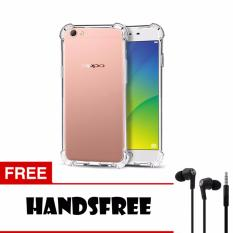 Softcase Anti Shock Anti Crack For Oppo F1S A59 Aircase - Putih Transparant + Free Handsfree