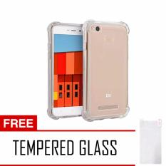 Softcase Anti Shock Anti Crack For Xiaomi Redmi 3 Pro Aircase - Putih Transparant + Free