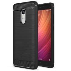 Harga Softcase Carbon Fiber Anti Drop Tpu Soft Phone Cases For Xiaomi Redmi Note 4 Hitam Free Tempered Galss Online