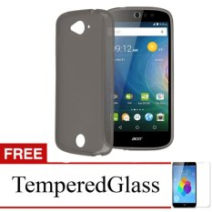 Softcase for Acer Z220 - Abu-abu + Gratis Tempered Glass - Ultra Thin