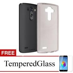 Softcase for LG G4 Stylus - Abu-abu + Gratis Tempered Glass - Ultra Thin