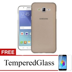 Softcase for Samsung Galaxy Alpha / G850 - Abu-abu + Gratis Tempered Glass - Ultra Thin