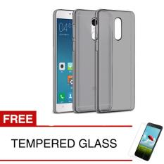 Softcase for Xiaomi Redmi Note 4 - Abu-abu + Gratis Tempered Glass - Ultra Thin