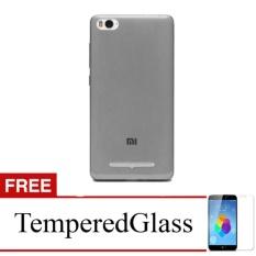 Softcase for Xiaomi Redmi Note - Abu-abu + Gratis Tempered Glass - Ultra Thin