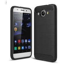 Softcase Ipaky Shockproof Matte Black karbon untuk Huawei Y3 2017  Perlindung Sempurna - Hitam