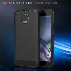 Softcase Ipaky Shockproof Matte Black karbon untuk Motorola G5 S Plus Perlindung Sempurna - Hitam