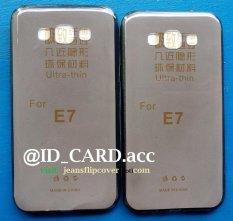 Softcase Samsung E7 Warna Gelap Transparan