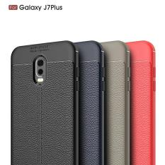Softcase Samsung J7 Plus Backcase Hardcase Soft Case Leather Carbon Auto Focus Samsung J7 Plus