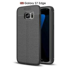 Case samsung S7 Edge Softcase Leather Cabon Auto Focus - Hitam