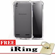 Softcase Silicon Anti Shock / Anti Crack Elegant Softcase  for Lenovo A6000 / Lenovo A6000 Plus - White Clear + Free iRing