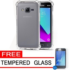 Softcase Silicon Anti Shock / Anti Crack Elegant Softcase  for Samsung Galaxy V2 / Galaxy J1 Mini Prime - White Clear + Free Tempered Glass