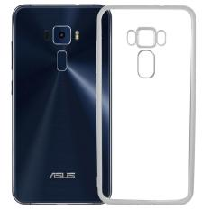 Softcase Silicon Jelly Case List Shining Chrome for Asus Zenfone 3 ZE552KL - Silver