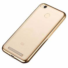 Softcase Silicon Jelly Case List Shining Chrome for Xiaomi Redmi 3 Pro - Gold