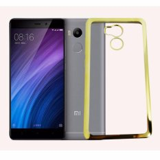 Softcase Silicon Jelly Case List Shining Chrome for Xiaomi Redmi 4 Prime - Gold