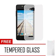 Softcase Ultrathin Smartfren Andromax E2 Plus Aircase - Putih Transparant + Tempered Glass