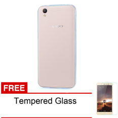 Softcase Ultrathin Untuk Oppo F1 S Plus - Clear + Free Tempered Glass