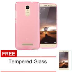 Softcase Ultrathin Untuk Xiaomi Redmi Note 3 - Merah Clear + Free Tempered