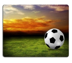 Sold by ELong station Mouse Pad Gaming Mouse pad Natural Rubber mouse mat football field soccer on the green grass sunset sky M0A01828
