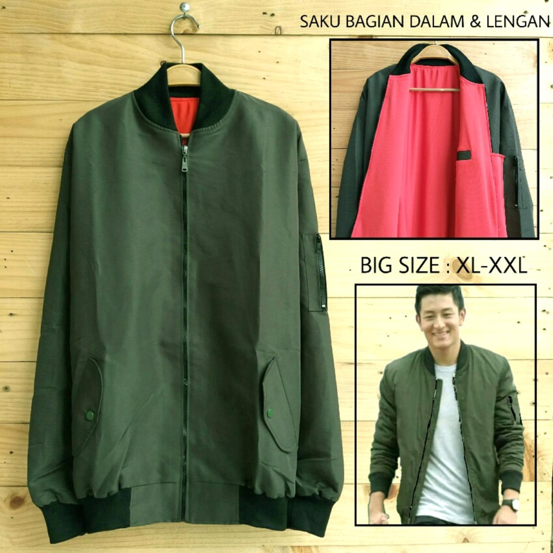 Toko Soldout Bomber Anti Air Big Size Hijau Army Soldout Apparel Online
