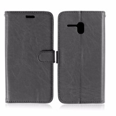 Solid color flip Leather Cover For Alcatel One Touch Fierce XL 5.5