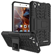 Ban tekstur Kickstand PC + TPU Phone Case untuk Lenovo A2010 - putihIDR45000. Rp 45.000
