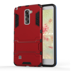 Solid PC + TPU Hybrid Shell Case with Kickstand for LG Stylus 2/LG G Stylo 2 (Red) - intl