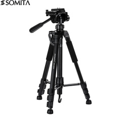 SOMITA Flexible lightweight Camera/Dlsr/Mobilephone tripod Professional Portable Travel Aluminum Camera Tripod&Pan Head 4 knot