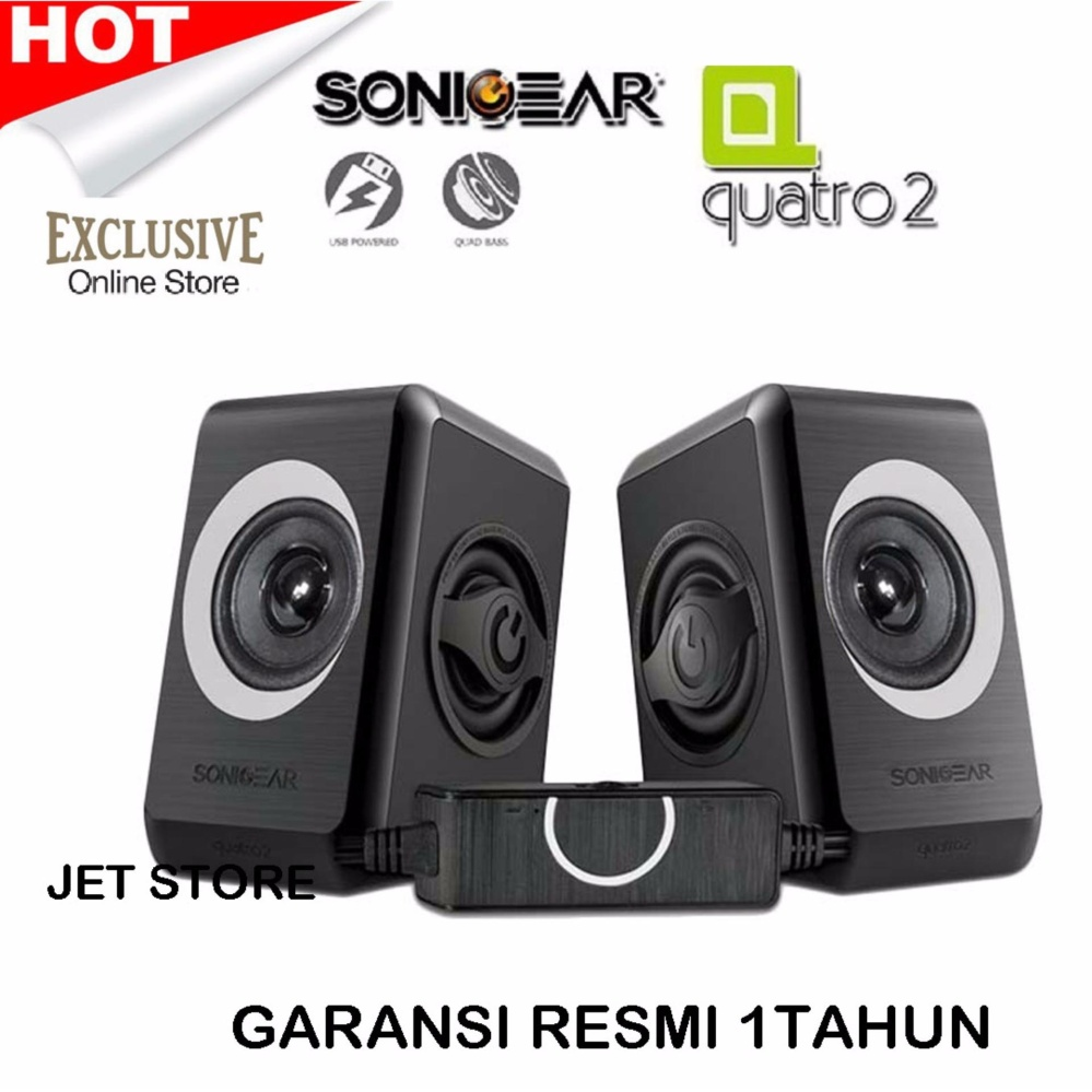 Jual Sonicgear Quatro 2 2 Grey Usb Speaker With Volume Control Di Jawa Barat