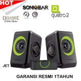 Spesifikasi Sonicgear Quatro2 Speaker Komputer Hijau Dan Harga
