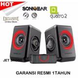 Harga Sonicgear Quatro2 Speaker Komputer Merah Dan Spesifikasinya
