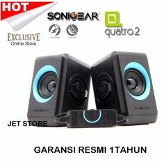 Jual Sonicgear Quatro2 Speaker Computer Hp Biru Branded Original