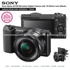 SONY Alpha 5100 Black with 16-50mm Lens Mirrorless Camera a5100 - WiFi 24.3MP Full HD (Resmi Sony)