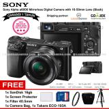 Review Sony Alpha 6000 Black With 16 50Mm Lens Mirrorless Camera A6000 Wifi 24 3Mp Full Hd Garansi 1Th Sandisk 16Gb Screen Guard Filter 40 5Mm Camera Bag Takara Eco 193A Terbaru