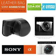 Sony Alpha A5000 / A5100 Leather Bag / Case / Tas Kulit Kamera Mirrorless - Hitam