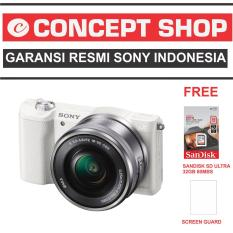 SONY ALPHA A5100 KAMERA DIGITAL MIRRORLESS - LENSA 16-50MM - 24.3MP - WHITE RESMI. A 5100