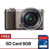 Obral Sony Alpha A5100Kamera Digital Mirrorless Lensa 16 50Mm 24 3 Mp Coklat Gratis Sd Card8Gb Murah