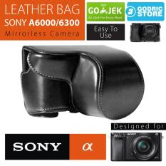 Sony Alpha A6000 / A6300 Leather Bag / Case / Tas Kulit Kamera Mirrorless - Hitam