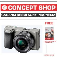 SONY ALPHA A6000 KAMERA DIGITAL MIRRORLESS - LENSA 16-50MM - 24.3MP- GRAPHITE GREY RESMI. A 6000