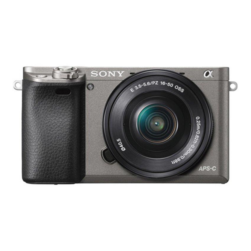 Sony Alpha A6000 Kamera Digital Mirrorless - Lensa 16-50mm -24.3MP - Grey