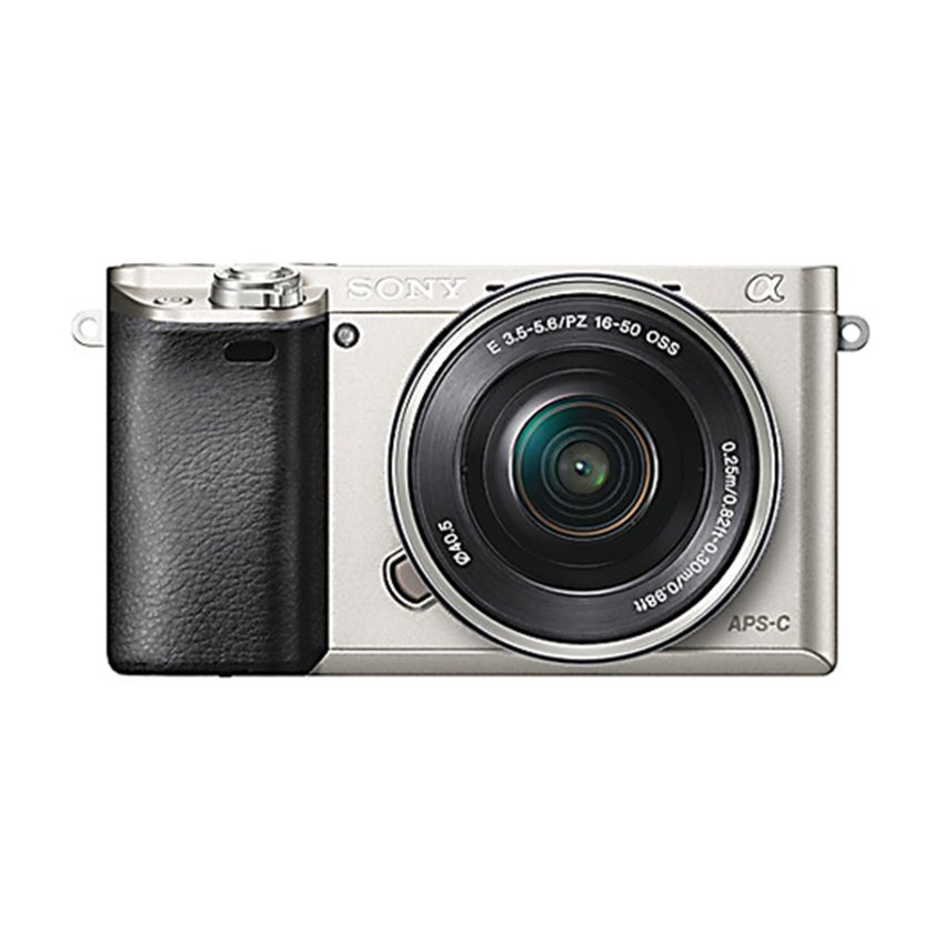 Sony Alpha A6000 Kamera Digital Mirrorless - Lensa 16-50mm - 24.3MP - Silver - Kamera Mirrorless Murah