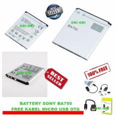 Sony Baterai BA750 For Sony Xperia Arc, Xperia Arc S, Xperia Acro HD-SO-i12, Xperia Acro HD-SO-03D, X-12 Original Nonpacking + Free Kabel Micro USB OTG