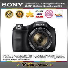SONY Cyber-shot DSC-H300 Digital Camera H300 20.1MP 35x Zoom Black - Garansi 1th