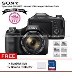 SONY Cyber-shot DSC-H300 Digital Camera H300 (Garansi 1th) 20.1MP 35x Zoom + SanDisk 8gb + Screen Protector