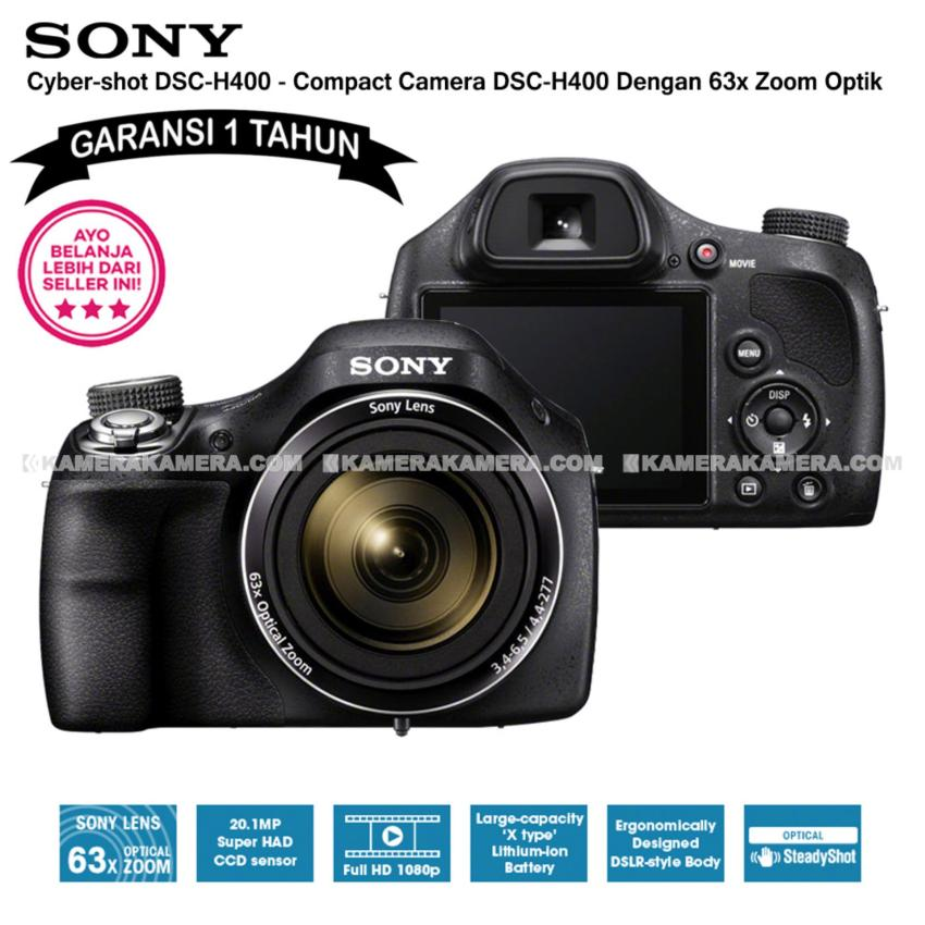 Review Toko Sony Cyber Shot Dsc H400 Garansi 1Th Compact Camera H400 63X Optical Zoom Online